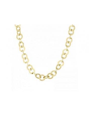 Collana in acciaio gold a...